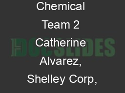 Kent Chemical Team 2 Catherine Alvarez, Shelley Corp,