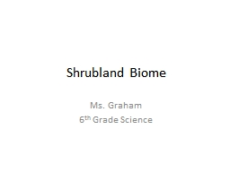 Shrubland  Biome Ms. Graham