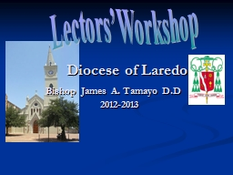 Diocese of Laredo PowerPoint PPT Presentation