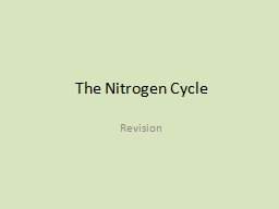 The Nitrogen Cycle Revision