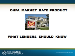 OHFA MARKET RATE PRODUCT