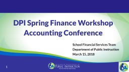DPI Spring Finance Workshop