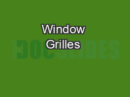 Window Grilles