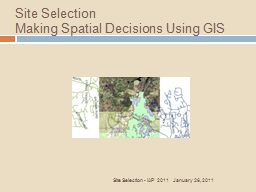 Site Selection    Making