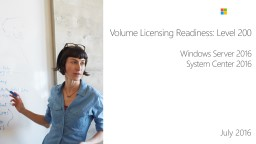 Volume Licensing Readiness: