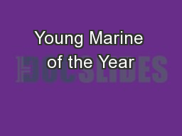 Young Marine of the Year
