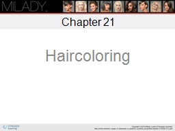 Chapter 21 Haircoloring Learning Objectives
