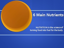 Nutrition Basics Chapter 12 PowerPoint PPT Presentation