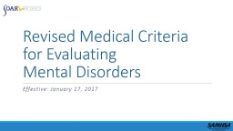 Revised Medical Criteria for Evaluating PowerPoint PPT Presentation
