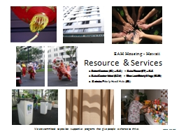 Resource  & Services