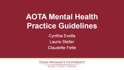 Mental Health Promotion, Prevention, and Intervention in Practice