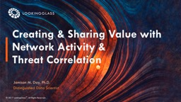 Creating & Sharing Value with Network Activity &