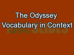 The Odyssey Vocabulary in Context