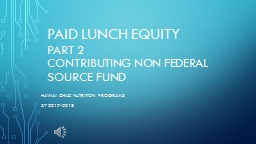 Paid Lunch Equity PART 2