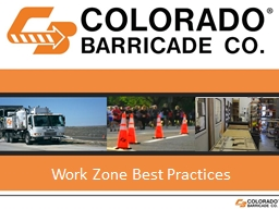 Work Zone Best Practices