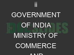 TO BE PUBLISHED IN THE GAZETTE OF INDIA EXTRAORDINARY PARTII SECTION SUBSECTION ii GOVERNMENT OF INDIA MINISTRY OF COMMERCE AND INDUSTRY DEPARTMENT OF INDUSTRIAL POLICY AND PROMOTION  New Delhi the Ap