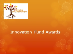 Innovation Fund Awards Overview