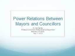 Power Relations Between Mayors and