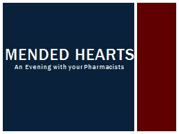 An Evening with your Pharmacists PowerPoint PPT Presentation