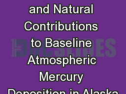 Out-of-state and Natural Contributions to Baseline Atmospheric Mercury Deposition in Alaska