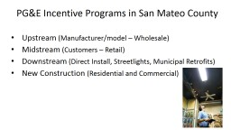 PG&E Incentive Programs in San Mateo County