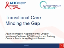 Transitional Care: Minding the Gap PowerPoint PPT Presentation