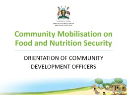 Community Mobilisation on