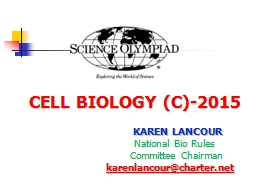 CELL BIOLOGY (C)- 2015