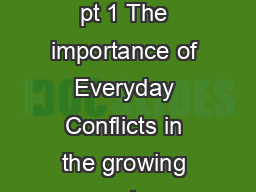 Great Expectations pt 1 The importance of Everyday Conflicts in the growing up story