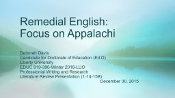 Remedial English: Teacher input student output