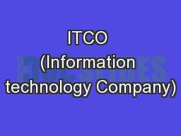 ITCO (Information technology Company)