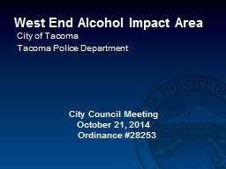 West End Alcohol Impact Area