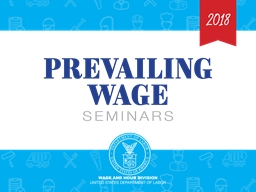 SCA Section 4(c)  Wage Determinations