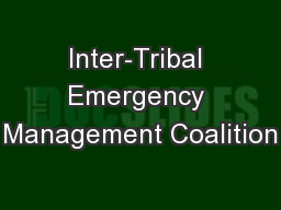 Inter-Tribal Emergency Management Coalition