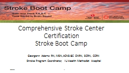 4/10/2015 1 Comprehensive Stroke Center Certification