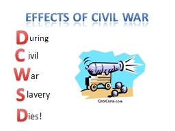 Effects of civil war D C