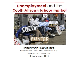 Unemployment  and   the