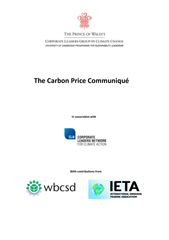 The Carbon Price Communiqu In association with With co
