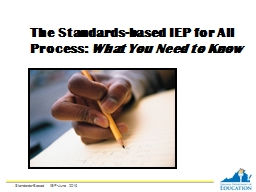 The Standards-based IEP