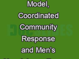 The Duluth Model, Coordinated Community Response and Men's Nonviolence Program