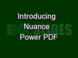 Introducing  Nuance  Power PDF