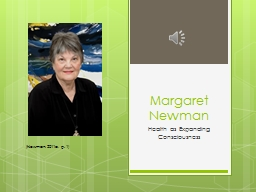 Margaret Newman Health as Expanding Consciousness PowerPoint Presentation, PPT - DocSlides