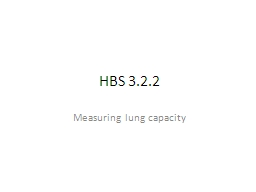 HBS 3.2.2 Measuring lung capacity