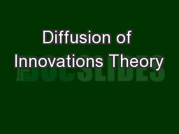 Diffusion of Innovations Theory
