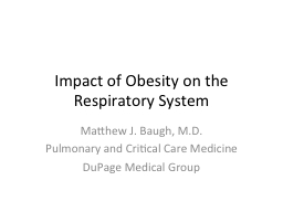 Impact of Obesity on the Respiratory System