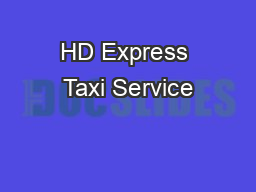 HD Express Taxi Service