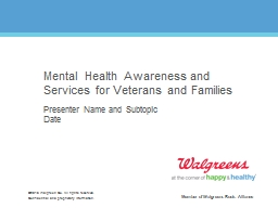 Mental Health Awareness and Services for Veterans and Families