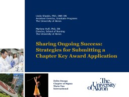 Sharing Ongoing Success: Strategies for Submitting a Chapter Key Award Application