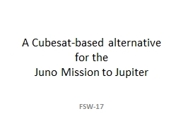 A  Cubesat -based alternative