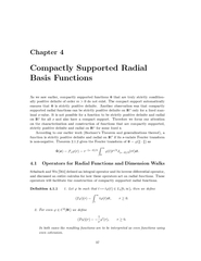 Chapter Compactly Supp orted Radial Basis unctions As